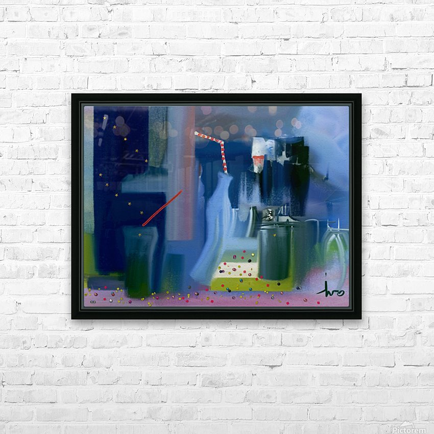 0312 HD Sublimation Metal print with Decorating Float Frame (BOX)