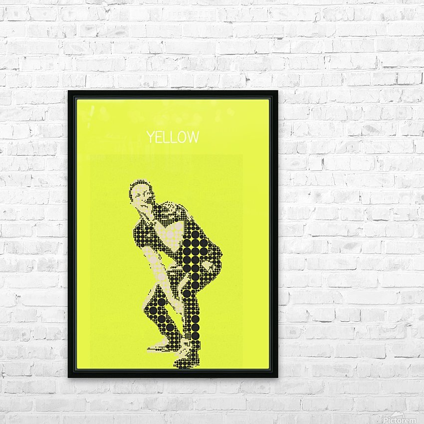 yellow    Chris Martin HD Sublimation Metal print with Decorating Float Frame (BOX)