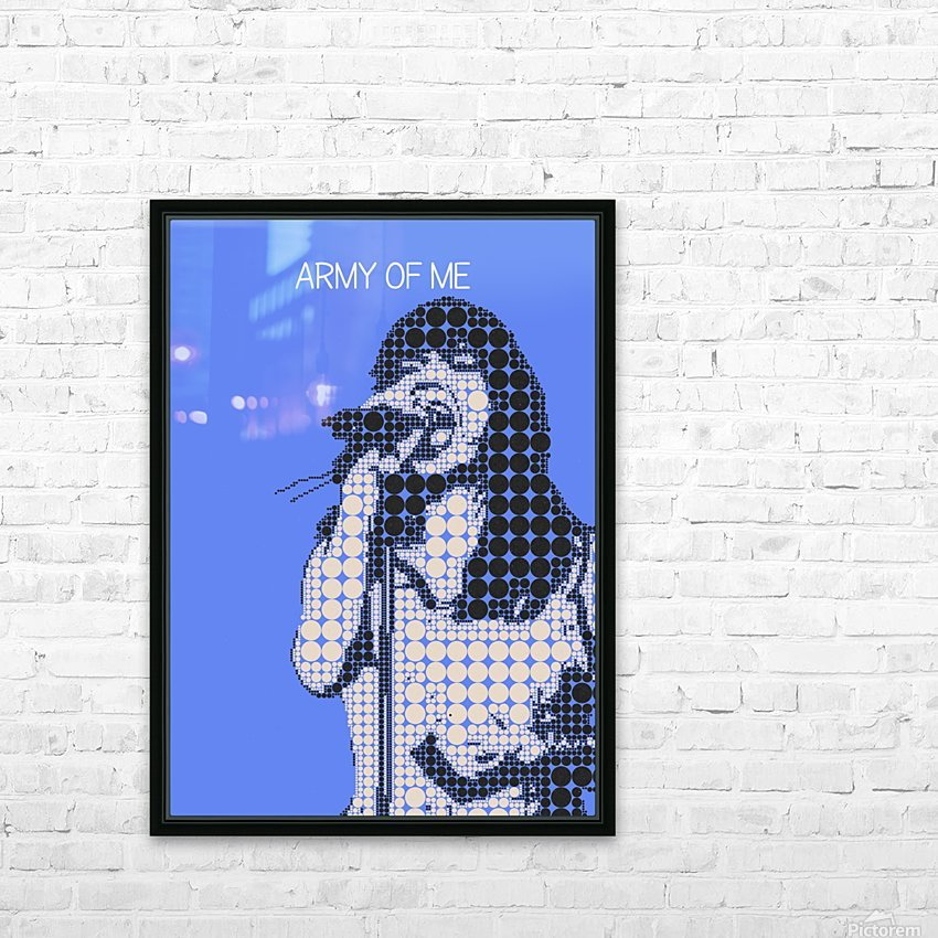 army of me   Bjork HD Sublimation Metal print with Decorating Float Frame (BOX)