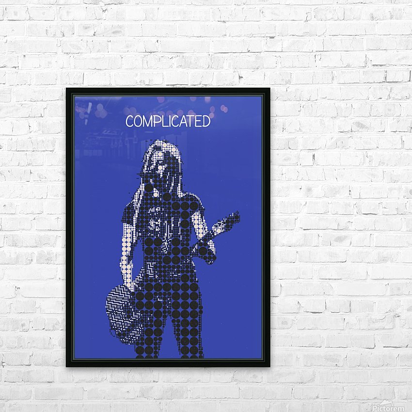 Complicated   Avril Lavigne HD Sublimation Metal print with Decorating Float Frame (BOX)