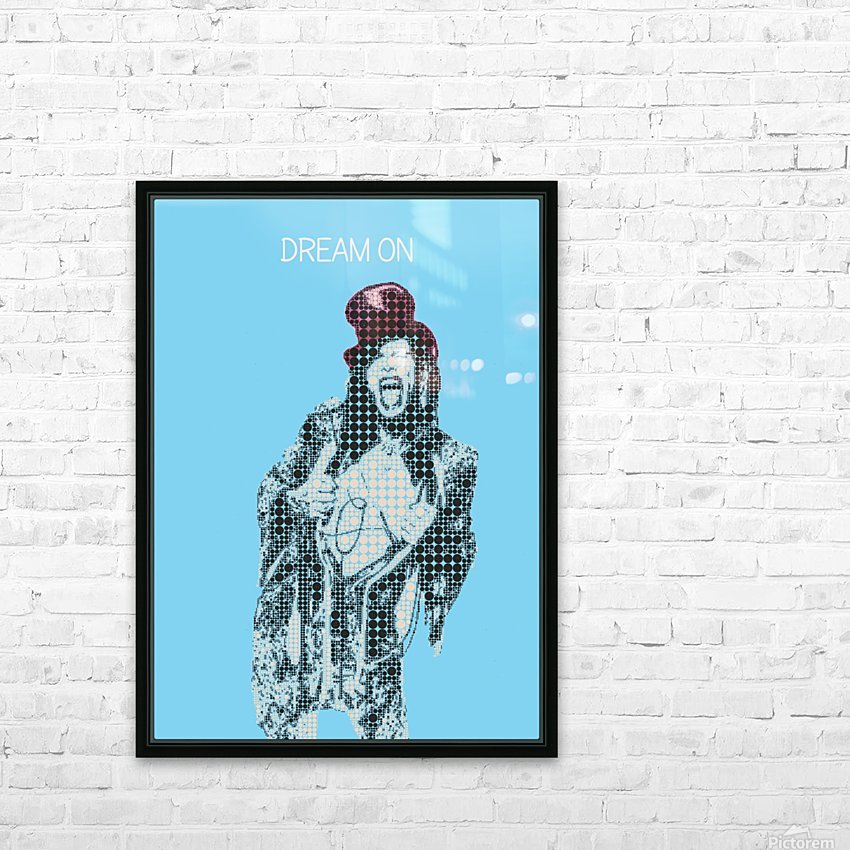 Dream On   Steven Tyler   Aerosmith HD Sublimation Metal print with Decorating Float Frame (BOX)