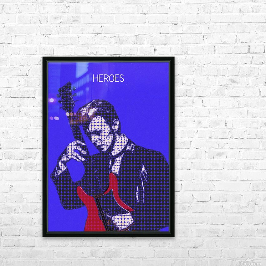 Heroes   David Bowie HD Sublimation Metal print with Decorating Float Frame (BOX)