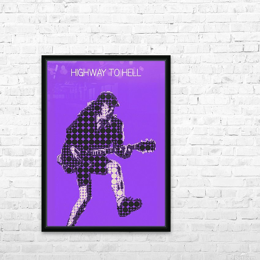 Highway to Hell   Angus Young HD Sublimation Metal print with Decorating Float Frame (BOX)