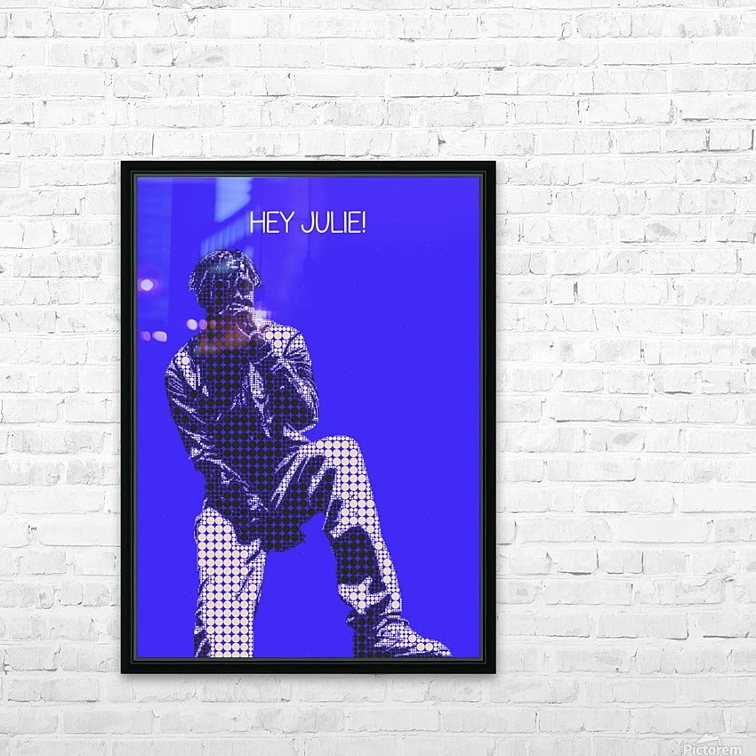 hey julie   Lil Yachty HD Sublimation Metal print with Decorating Float Frame (BOX)