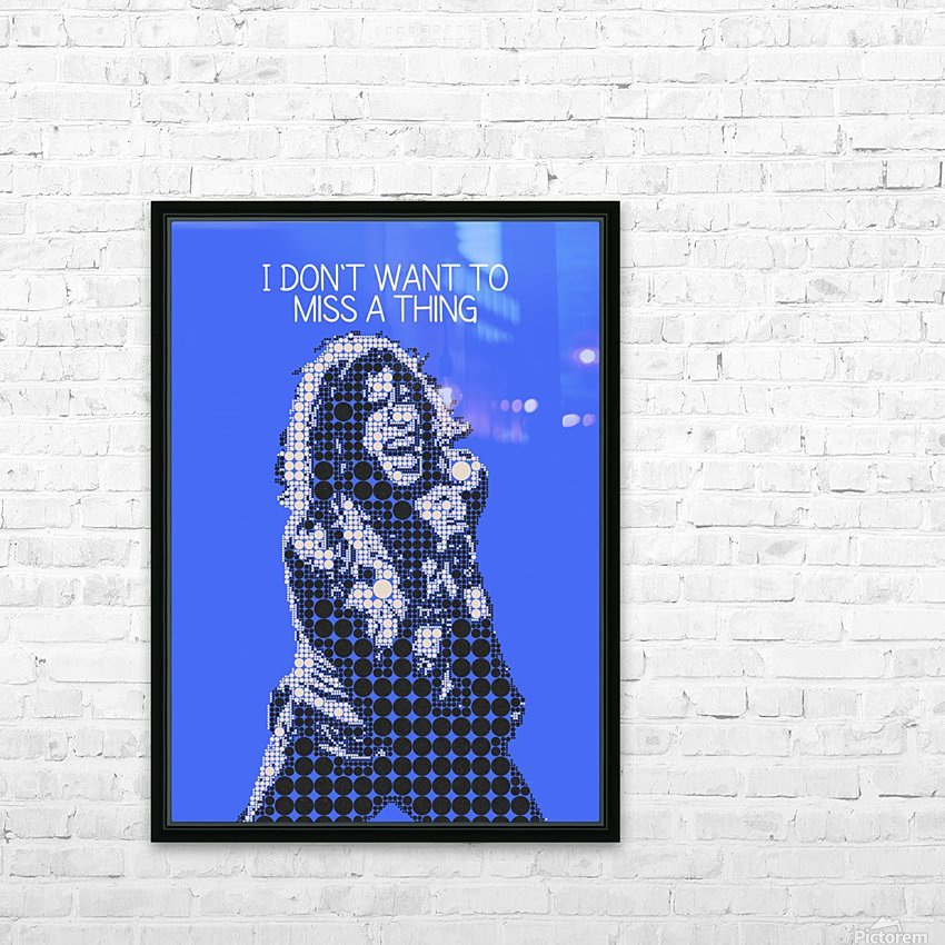 I Dont Want to Miss a Thing   Steven Tyler HD Sublimation Metal print with Decorating Float Frame (BOX)