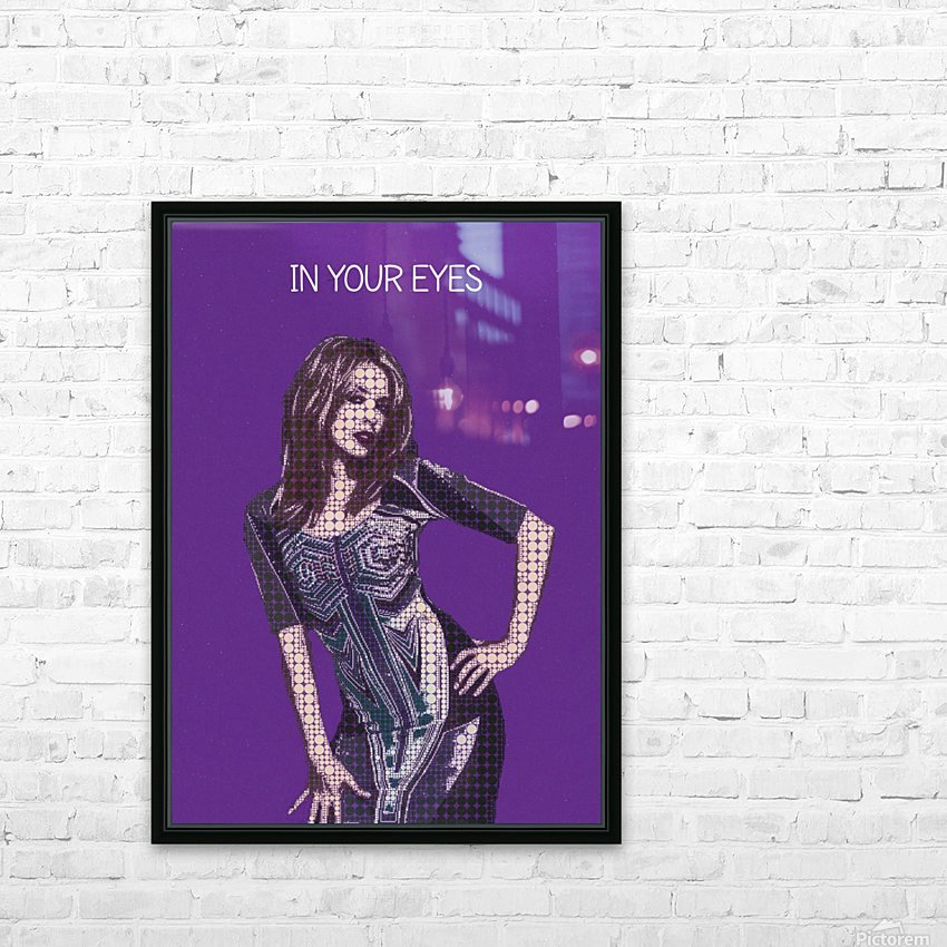 In Your Eyes   Kylie Minogue HD Sublimation Metal print with Decorating Float Frame (BOX)