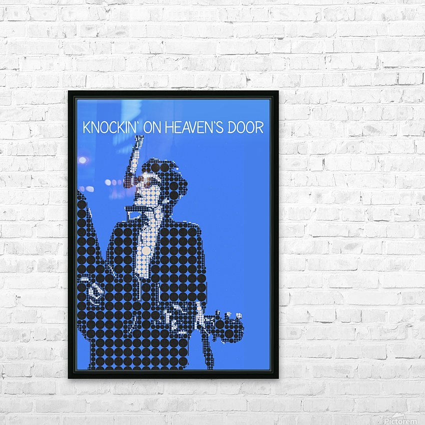 Knockin on Heavens Door   Bob Dylan HD Sublimation Metal print with Decorating Float Frame (BOX)