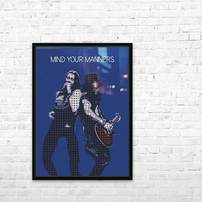 mind your manners   Slash ft Myles Kennedy The Conspirators HD Sublimation Metal print with Decorating Float Frame (BOX)