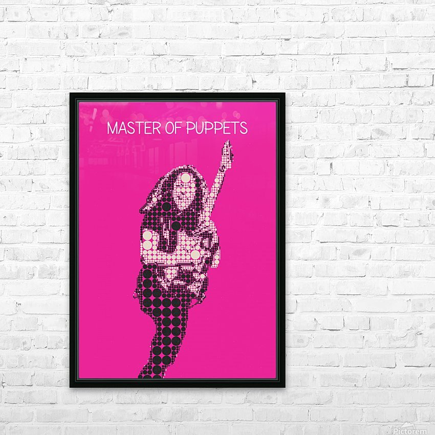 Master Of Puppets   Kirk Hammett HD Sublimation Metal print with Decorating Float Frame (BOX)