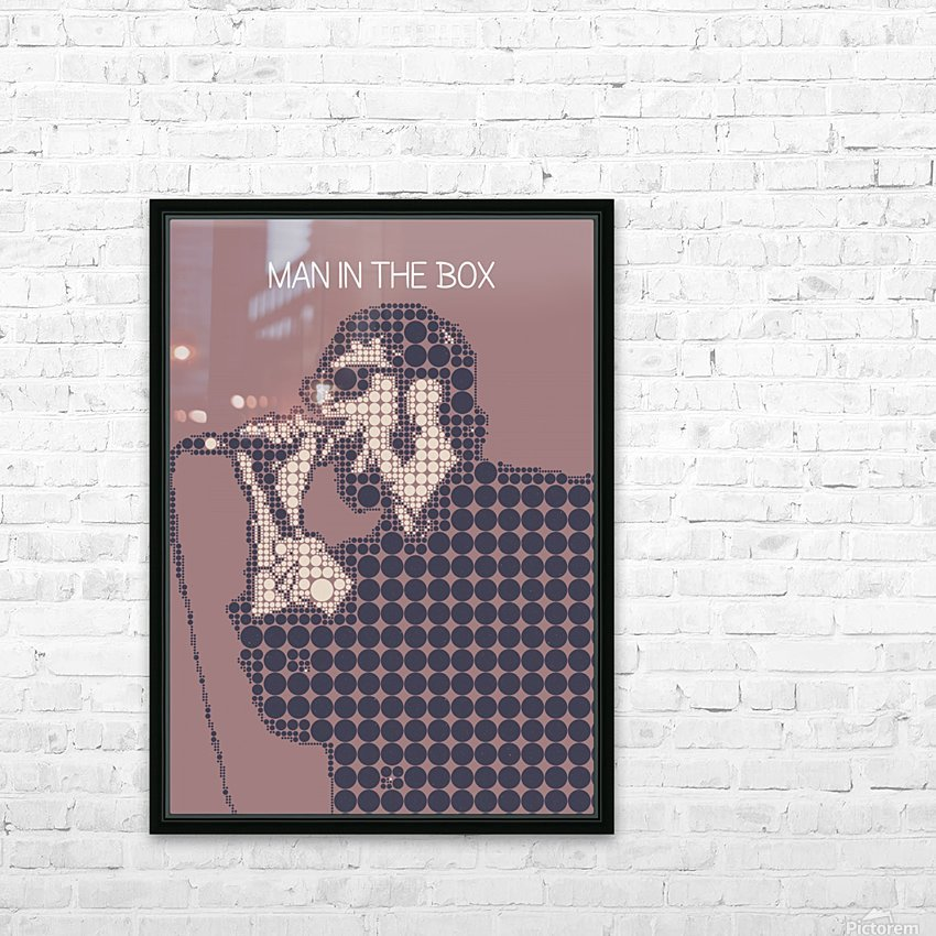 Man in the Box   Layne Staley HD Sublimation Metal print with Decorating Float Frame (BOX)