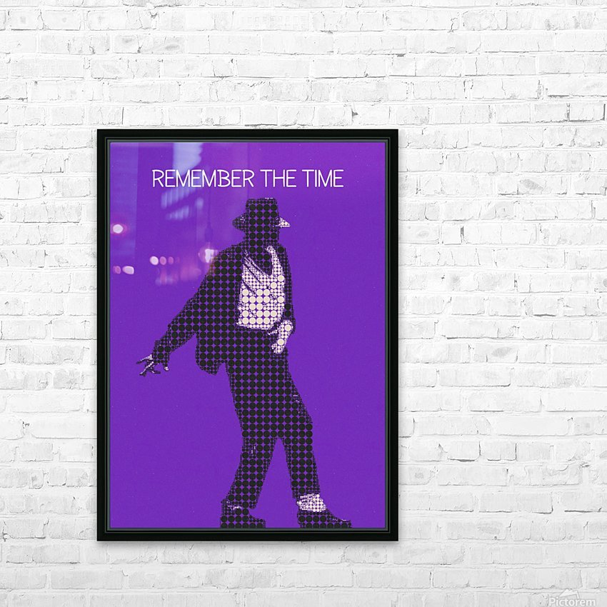 remember the time   Michael Jackson HD Sublimation Metal print with Decorating Float Frame (BOX)