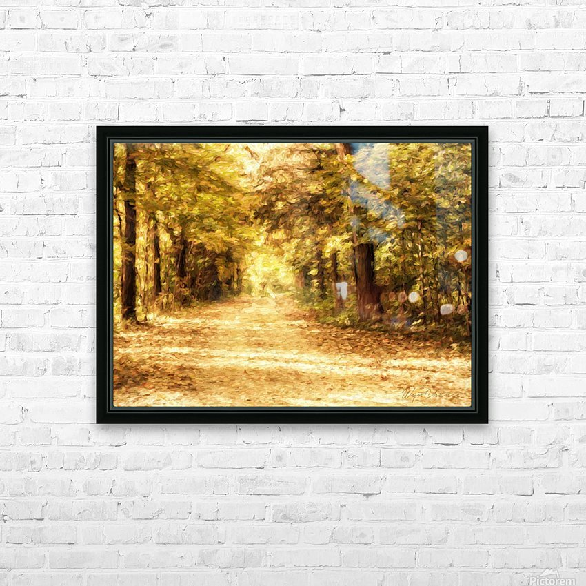 Autumn Path 2 HD Sublimation Metal print with Decorating Float Frame (BOX)