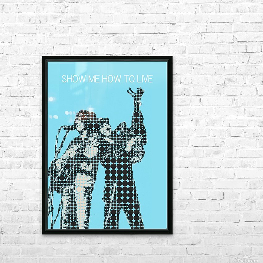 Show Me How to Live   Chris Cornell and Tom Morello HD Sublimation Metal print with Decorating Float Frame (BOX)