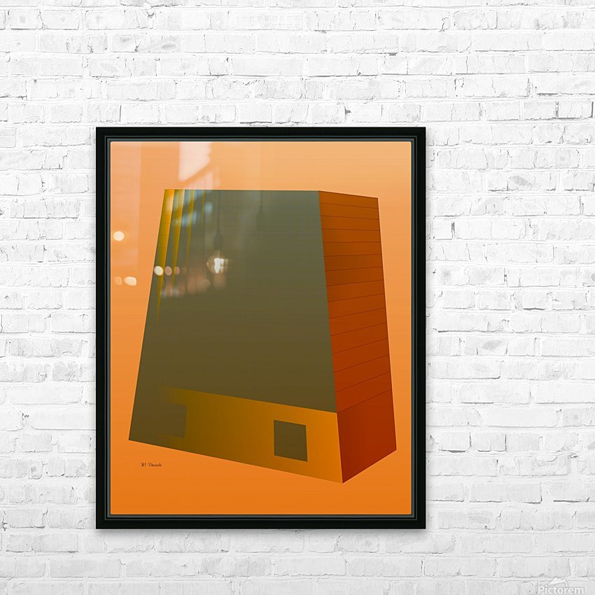 Office Building 2 VA HD Sublimation Metal print with Decorating Float Frame (BOX)