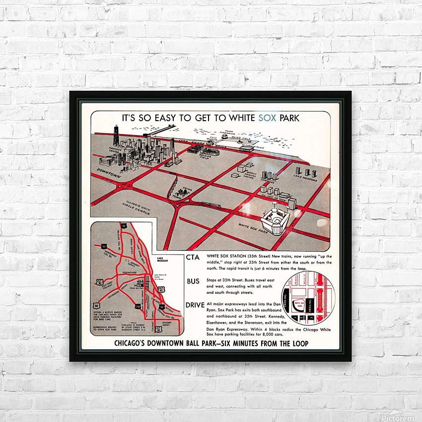chicago map HD Sublimation Metal print with Decorating Float Frame (BOX)