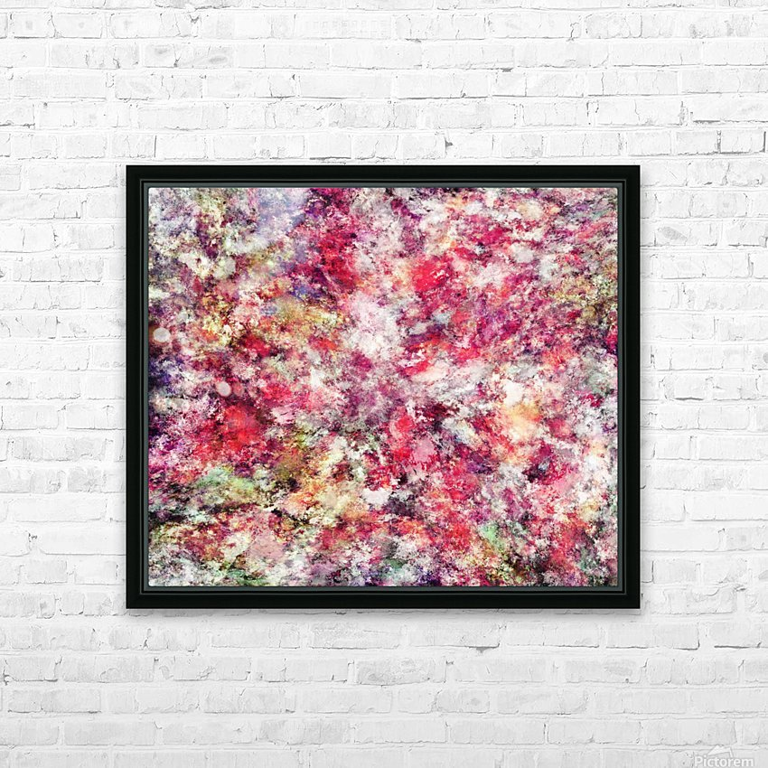Rambling roses HD Sublimation Metal print with Decorating Float Frame (BOX)