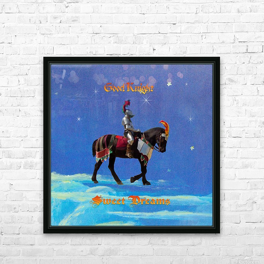 Good Knight  Sweet Dreams HD Sublimation Metal print with Decorating Float Frame (BOX)
