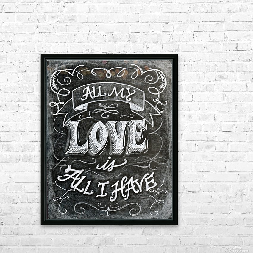 allloveprint HD Sublimation Metal print with Decorating Float Frame (BOX)
