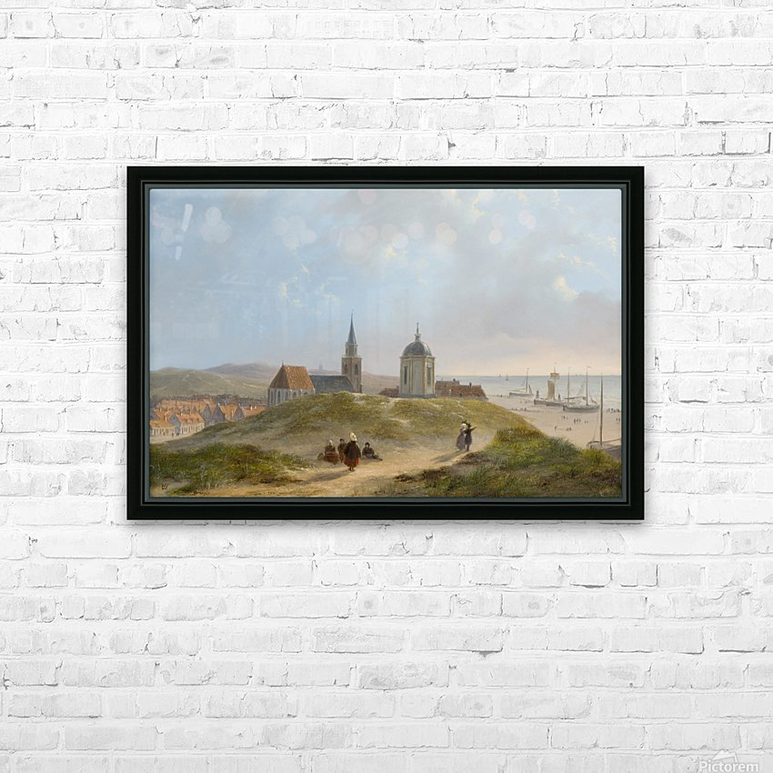 View on Scheveningen HD Sublimation Metal print with Decorating Float Frame (BOX)