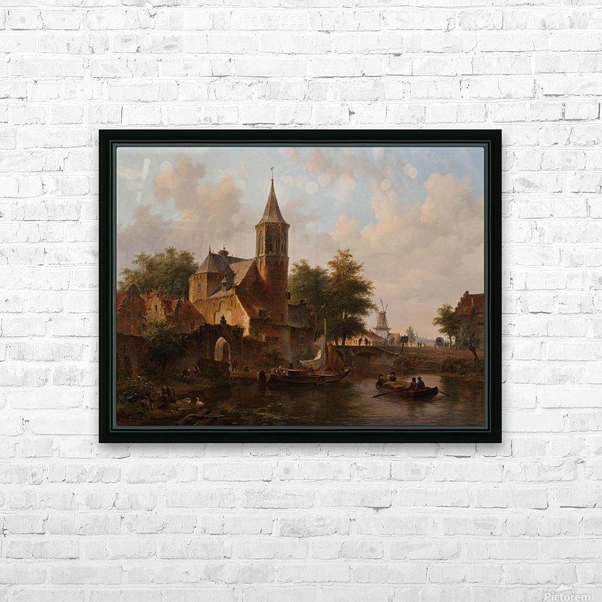Stadsgezicht mogelijk Den Haag HD Sublimation Metal print with Decorating Float Frame (BOX)