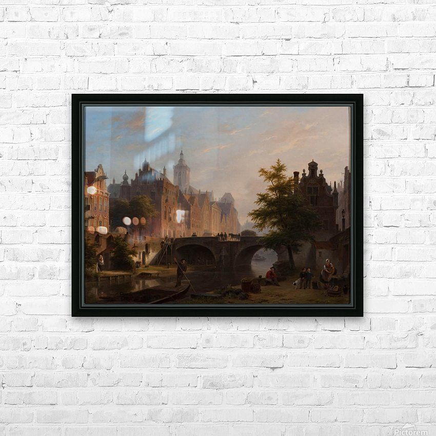 De Oude Gracht in Utrecht HD Sublimation Metal print with Decorating Float Frame (BOX)