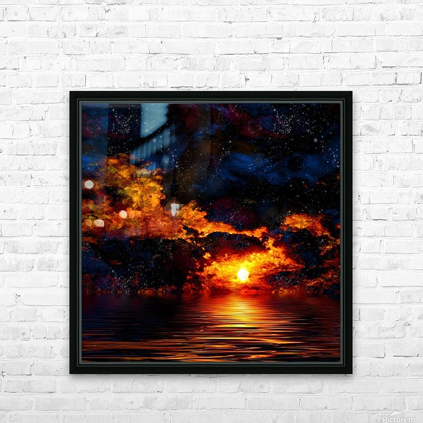 Amazing Sunset HD Sublimation Metal print with Decorating Float Frame (BOX)