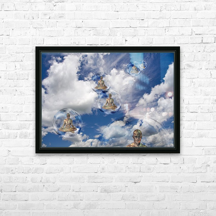 Cyborgs Meditation HD Sublimation Metal print with Decorating Float Frame (BOX)