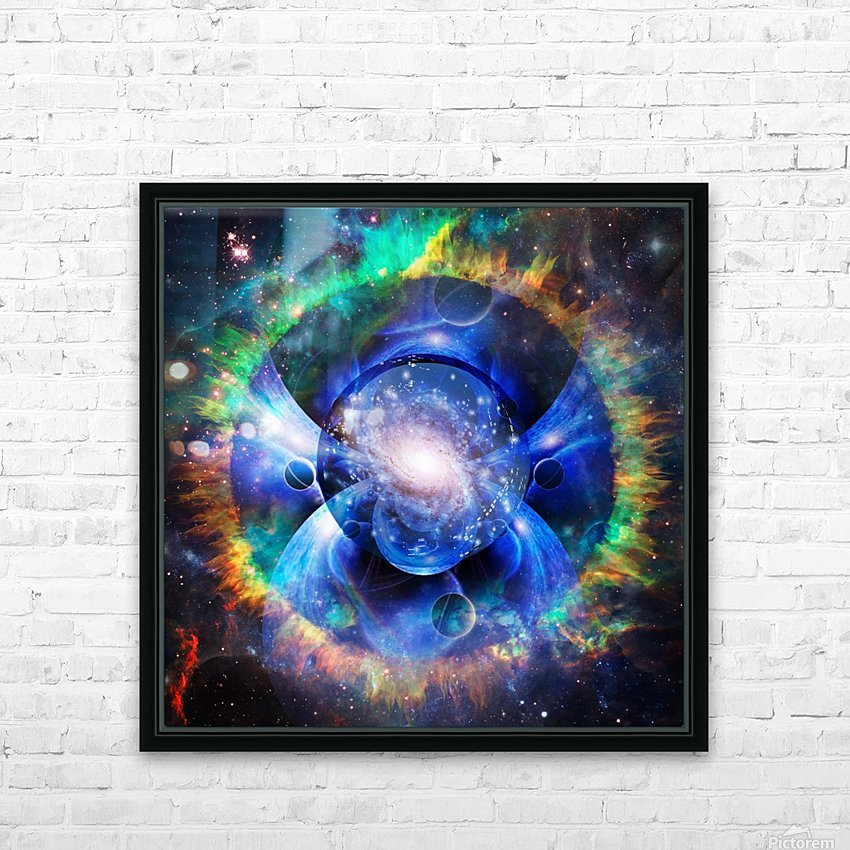 Mystic Universe HD Sublimation Metal print with Decorating Float Frame (BOX)