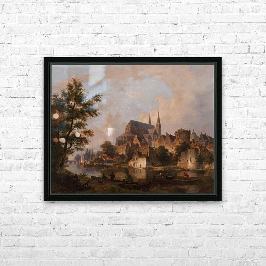 Capriccio stadsgezicht, elementen Deventer HD Sublimation Metal print with Decorating Float Frame (BOX)