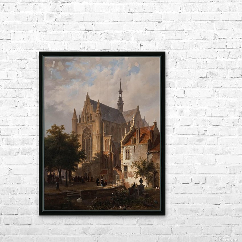 Leaving Church in Leyden, Bart and Huib van Hove HD Sublimation Metal print with Decorating Float Frame (BOX)