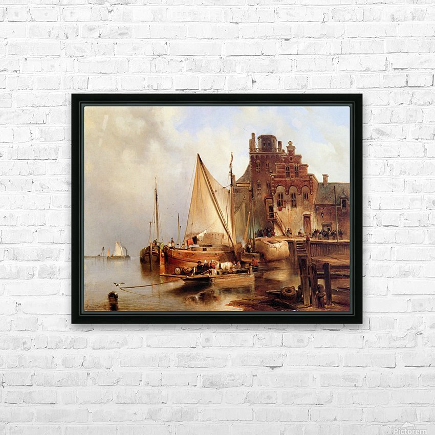 Hove van H - The ferry - Sun HD Sublimation Metal print with Decorating Float Frame (BOX)