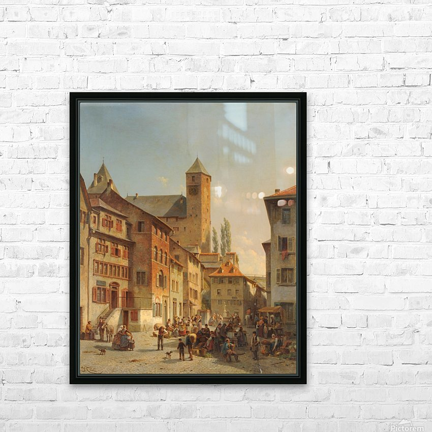 Belgian Continental Market HD Sublimation Metal print with Decorating Float Frame (BOX)