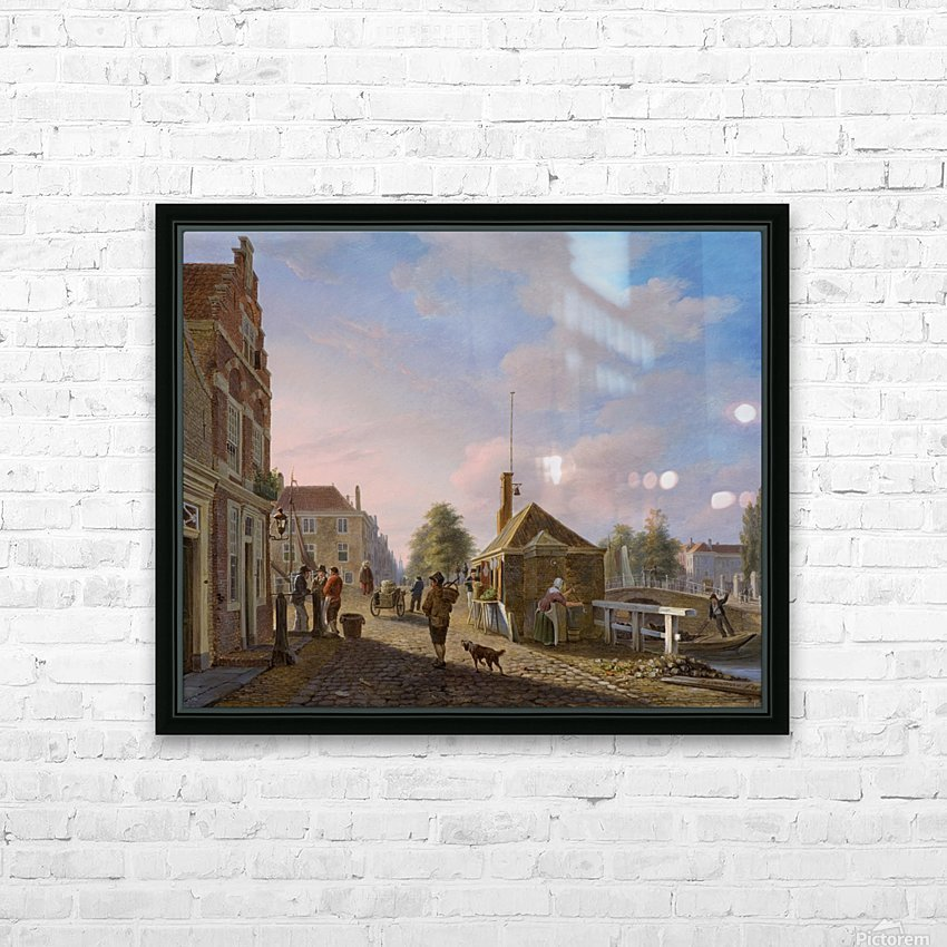 The Spui in The Hague HD Sublimation Metal print with Decorating Float Frame (BOX)