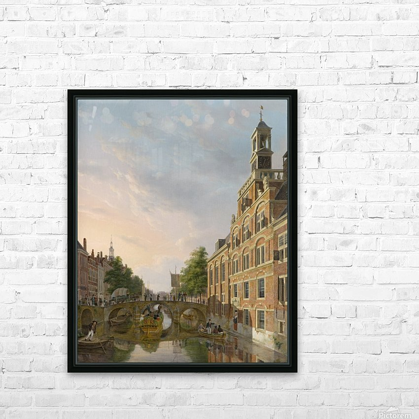 The Old Women and Children Home at the Spui, The Hague HD Sublimation Metal print with Decorating Float Frame (BOX)