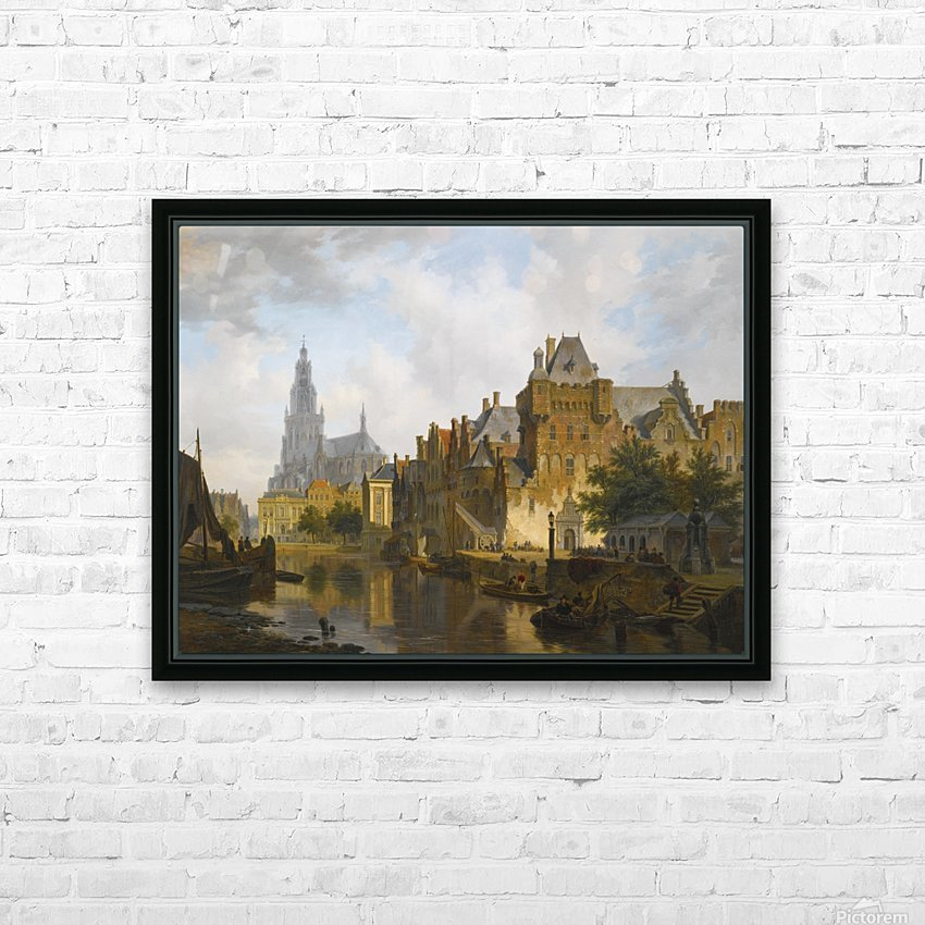 A Capriccio View Of The Hofvijver, The Hague HD Sublimation Metal print with Decorating Float Frame (BOX)