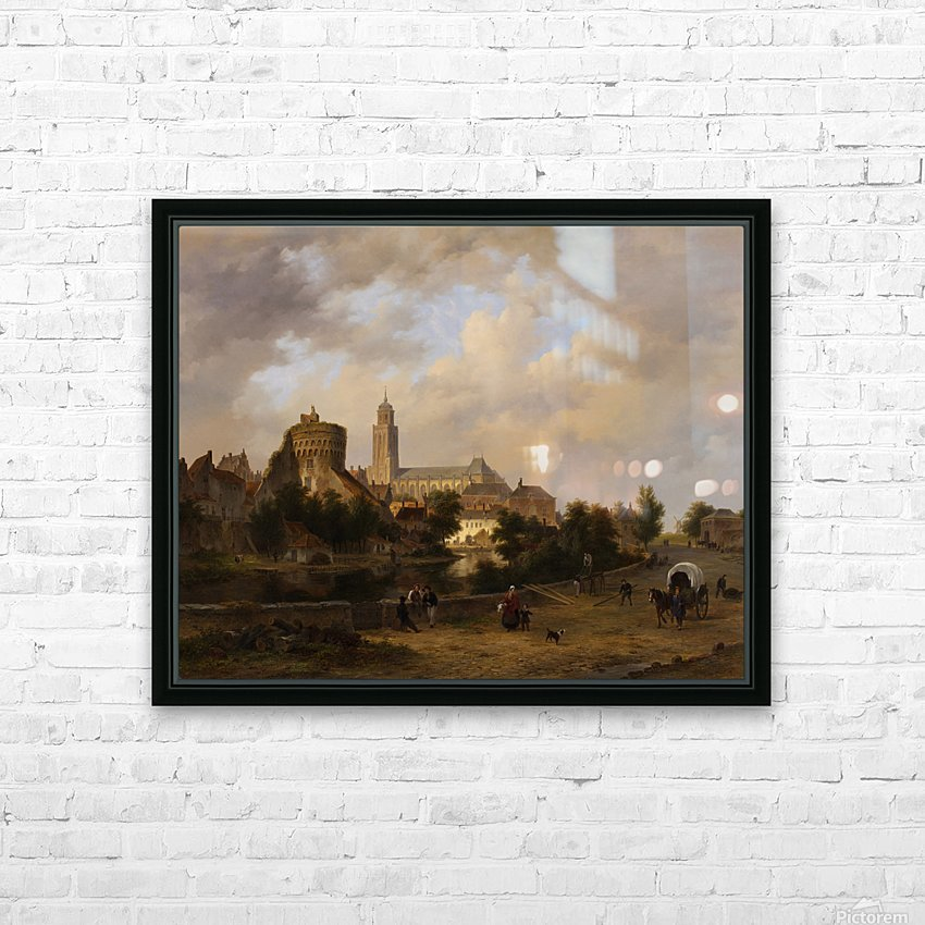 Gezicht op Deventer HD Sublimation Metal print with Decorating Float Frame (BOX)