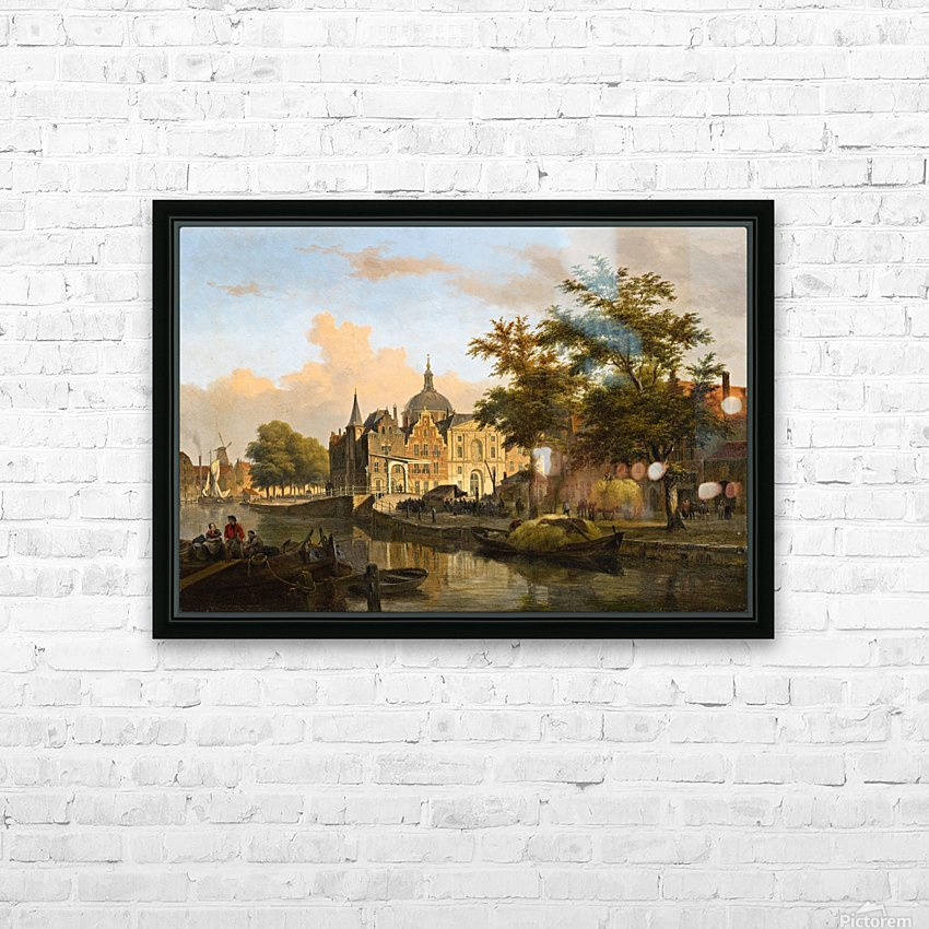 View of a Dutch City HD Sublimation Metal print with Decorating Float Frame (BOX)