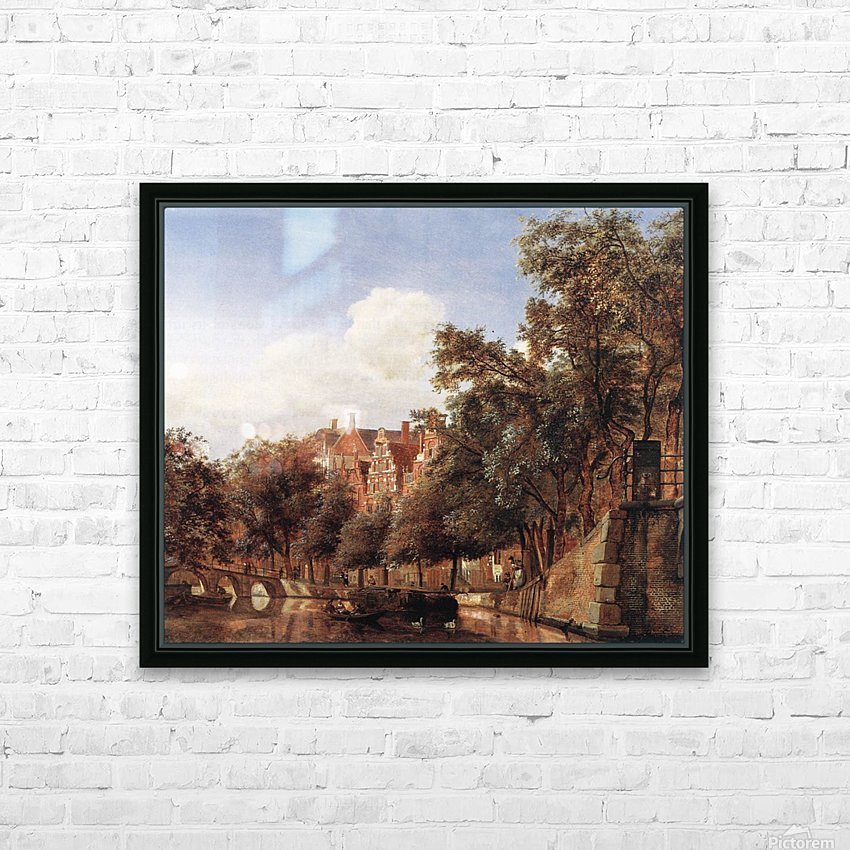 View of the Herengracht, Amsterdam HD Sublimation Metal print with Decorating Float Frame (BOX)