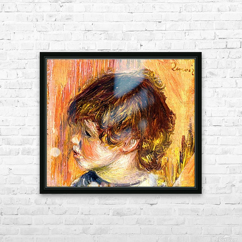 Head of a young girl HD Sublimation Metal print with Decorating Float Frame (BOX)