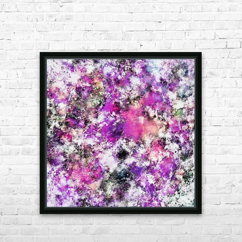 Reflecting the purple water HD sublimation métal imprimé avec décoration flotteur cadre (boîte)