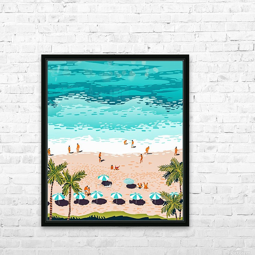 Dream in Colors Borrowed From The Sea HD Sublimation Metal print with Decorating Float Frame (BOX)