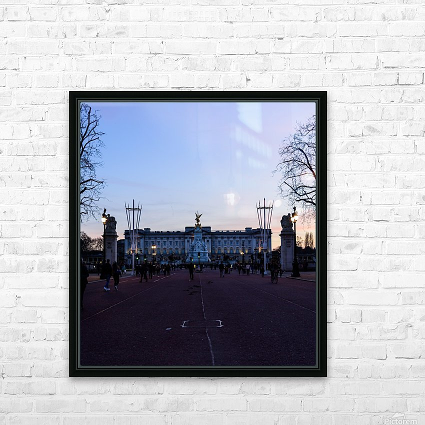 Dusk at Buckingham Palace London HD Sublimation Metal print with Decorating Float Frame (BOX)