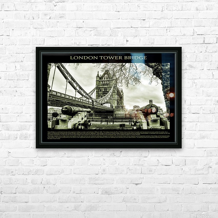 Vintage London Tower Bridge HD Sublimation Metal print with Decorating Float Frame (BOX)