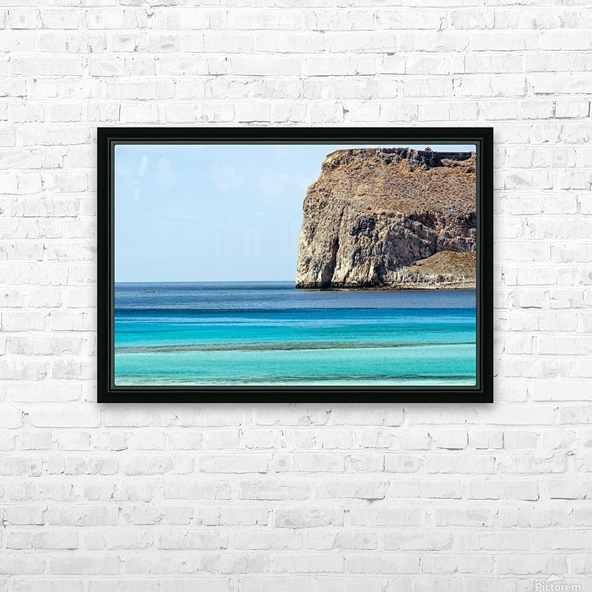Blue tones HD Sublimation Metal print with Decorating Float Frame (BOX)