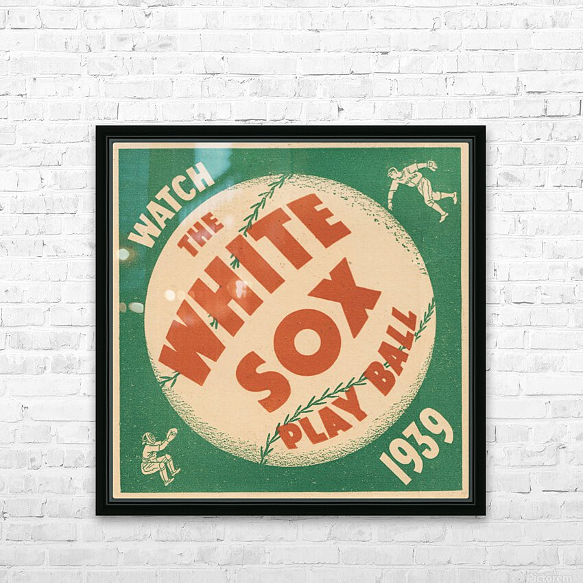 1939 Chicago White Sox Art HD Sublimation Metal print with Decorating Float Frame (BOX)