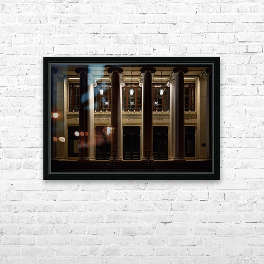 Night Pillars HD Sublimation Metal print with Decorating Float Frame (BOX)