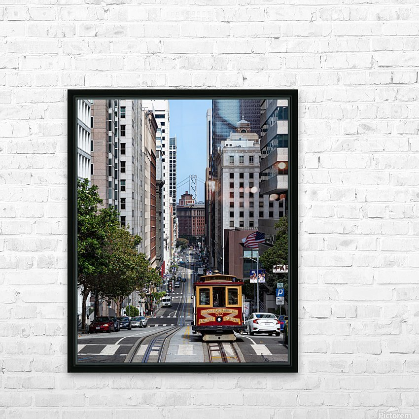 San Francisco City Scene HD Sublimation Metal print with Decorating Float Frame (BOX)