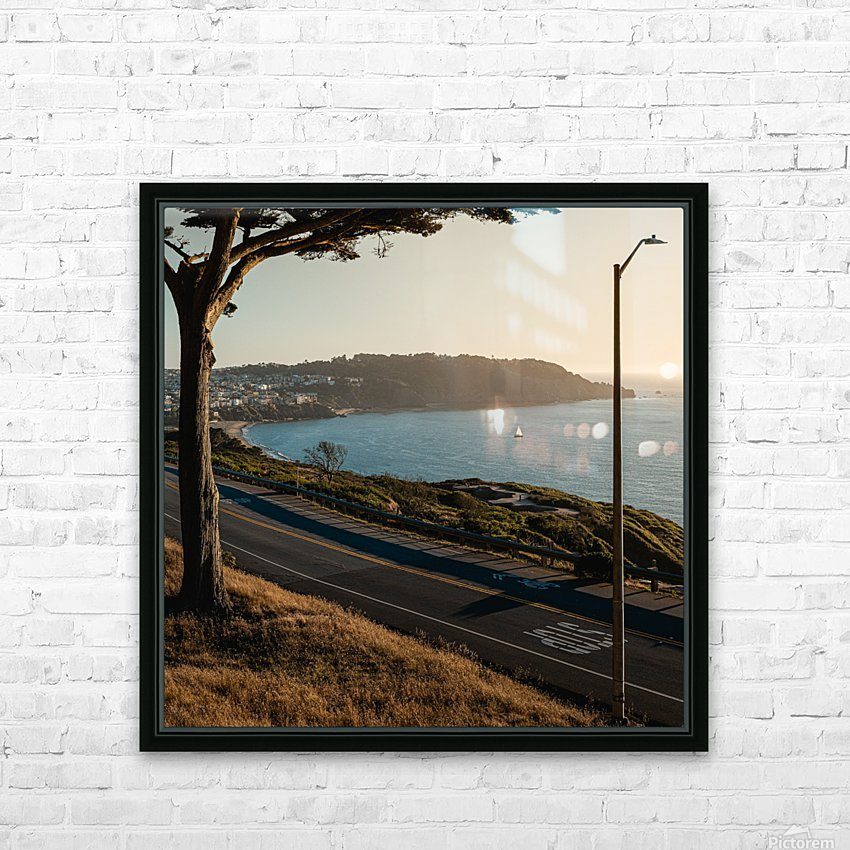 Sunset On San Francisco Coast HD Sublimation Metal print with Decorating Float Frame (BOX)