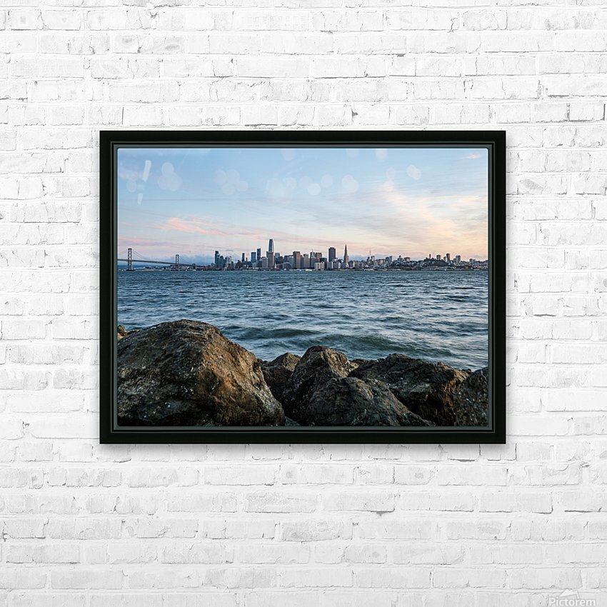 San Francisco City Skyline At Sunset HD Sublimation Metal print with Decorating Float Frame (BOX)