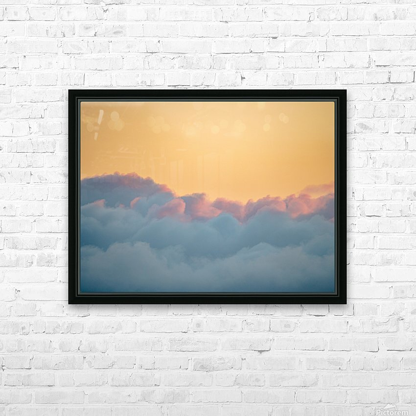 Clouds at Sunset HD Sublimation Metal print with Decorating Float Frame (BOX)